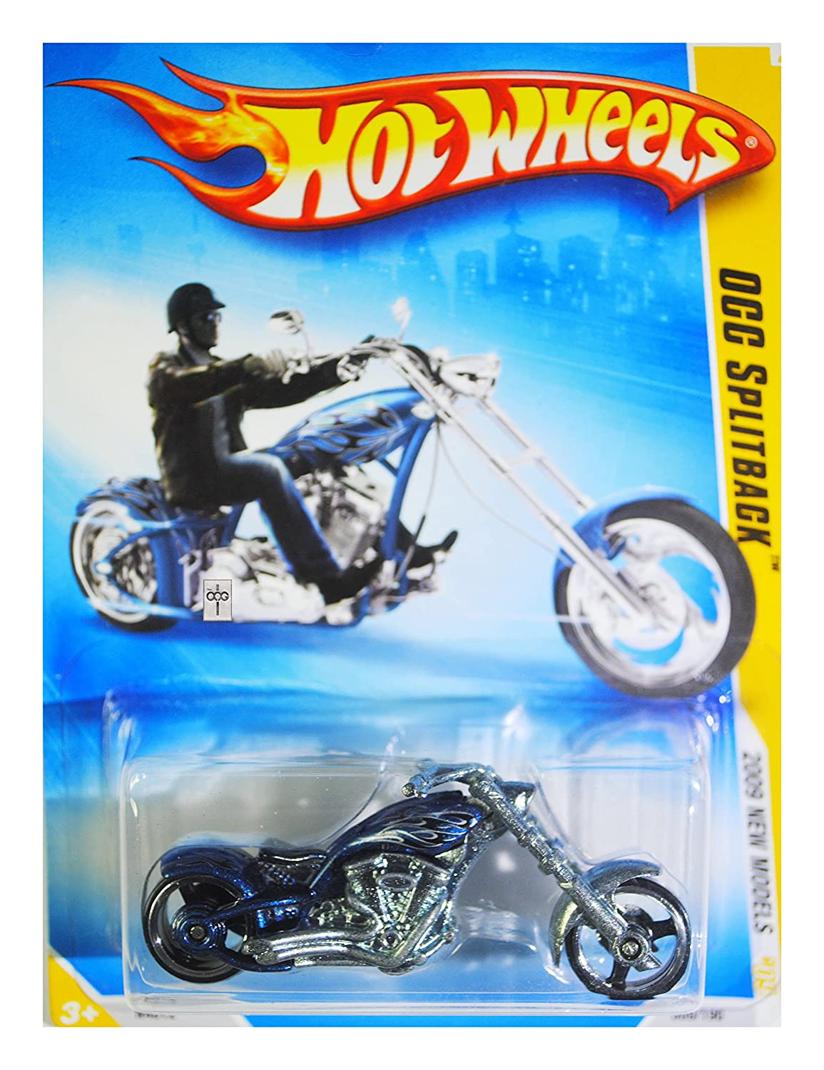 Hw hot wheels 2015 hw city 48 250 canyon carver police motorcycle - Amazon Com Hot Wheels 2009 New Models Blue Occ Splitback Cycle 09 Of 42 009 190 Toys Games