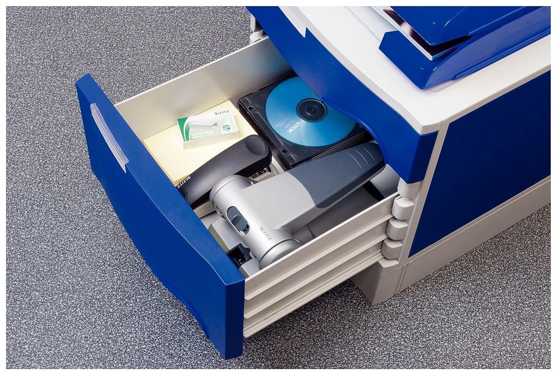 65 fogli 5180 51800084 Mod Argento Leitz Perforatore ad alta capacit/à Sistema di collegamento dei punzoni