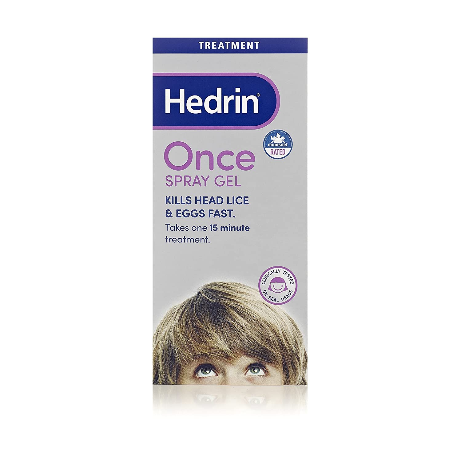 Hedrin Once Spray Gel, 100 ml T&R 5011309590111