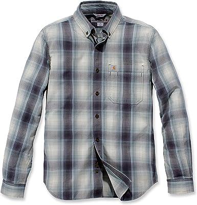 Carhartt - Camisa de cuadros de manga larga para hombre: Amazon.es: Ropa y accesorios