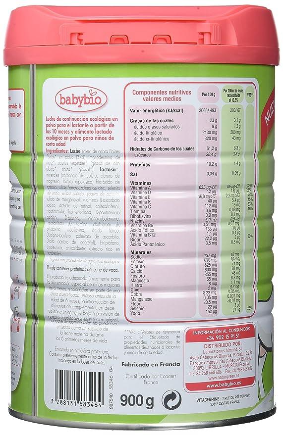 Babybio Caprea Leche 3 Crecimiento - 900 gr