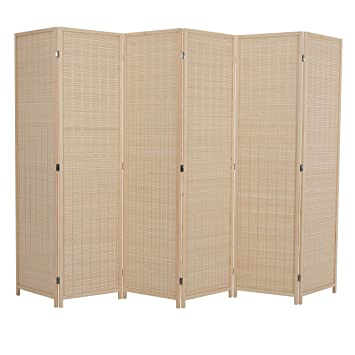 Amazoncom Alpha Home 6 Panel Bamboo Room Dividers 6 Ft Tall