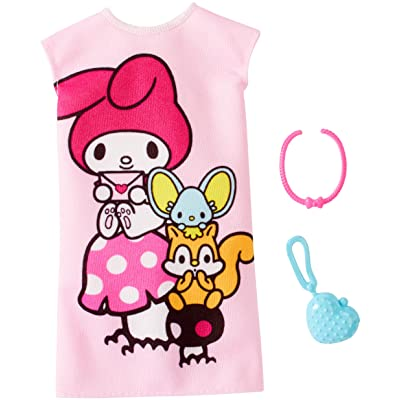 Barbie Hello Kitty My Melody Pink Dress Fashion Pack: Toys & Games