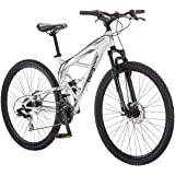 Mongoose Impasse Mens Mountain Bike, 29-Inch Wheels, Aluminum Frame, Twist Shifters, 21-Speed Rear Deraileur, Front and…