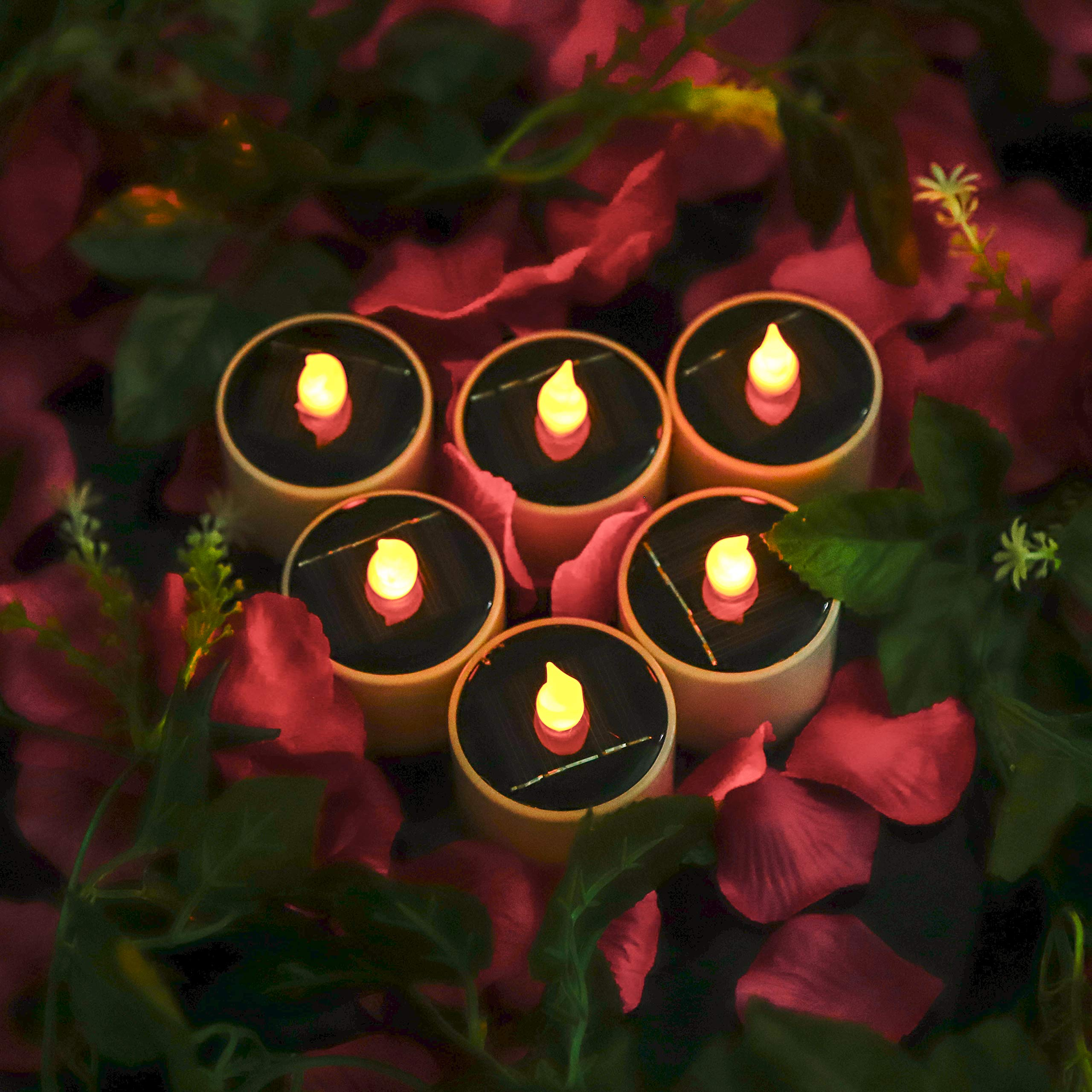 HanSemay Flameless Set of 6 Christmas Candles for home decor birthday, churches, parties and Christmas, Batteries Not Included (6pcs)