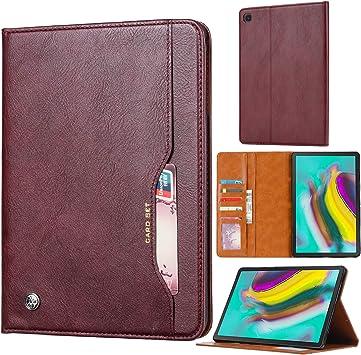 Fdbark Funda para Samsung Galaxy Tab S5e,Flip Wallet Funda de Cuero,Estuche para tabletas de Gama Alta con Ranura para Tarjeta.(Rojo Oscuro): Amazon.es: Electrónica