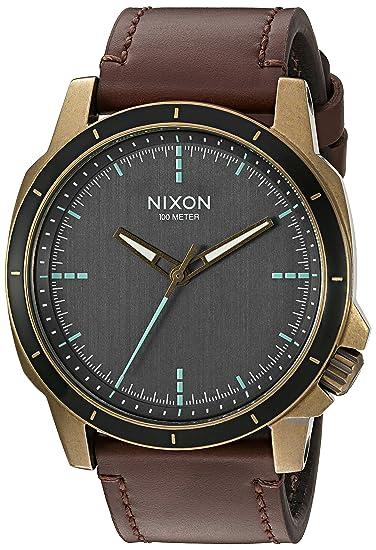 WatchColor Men's Ops' Quartz Nixon 'ranger Leather brownAmazon by7Y6gvIfm