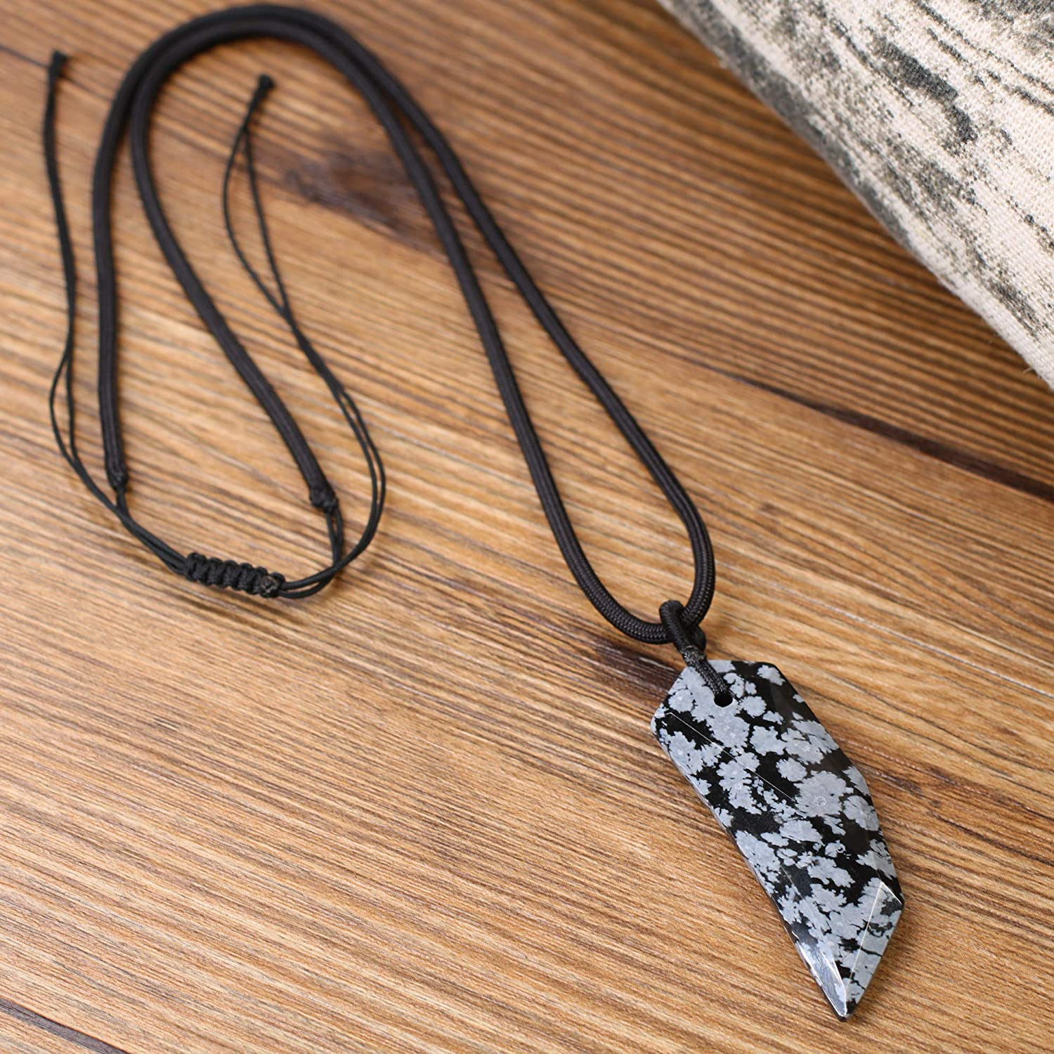 COAI Gemstone Wolf Tooth Pendant Spike Amulet Necklace