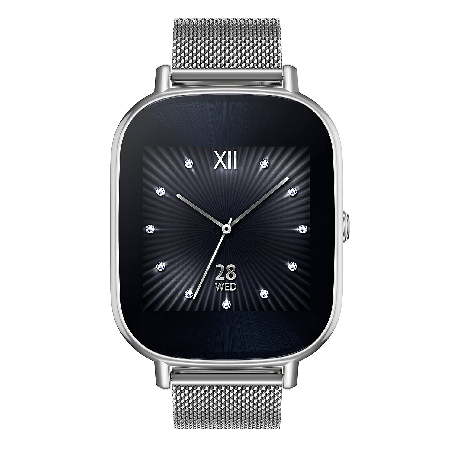 ASUS wi502q-1msil0002 – SmartWatches (Metall - eckig - Lithium Polymer (Lipo) - silber - silber - silber)