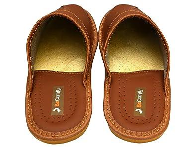 BeComfy zapatillas de hombres de cuero, marrón, elegante. Selección de tamaños 40-46, model MI02 (40, marrón)