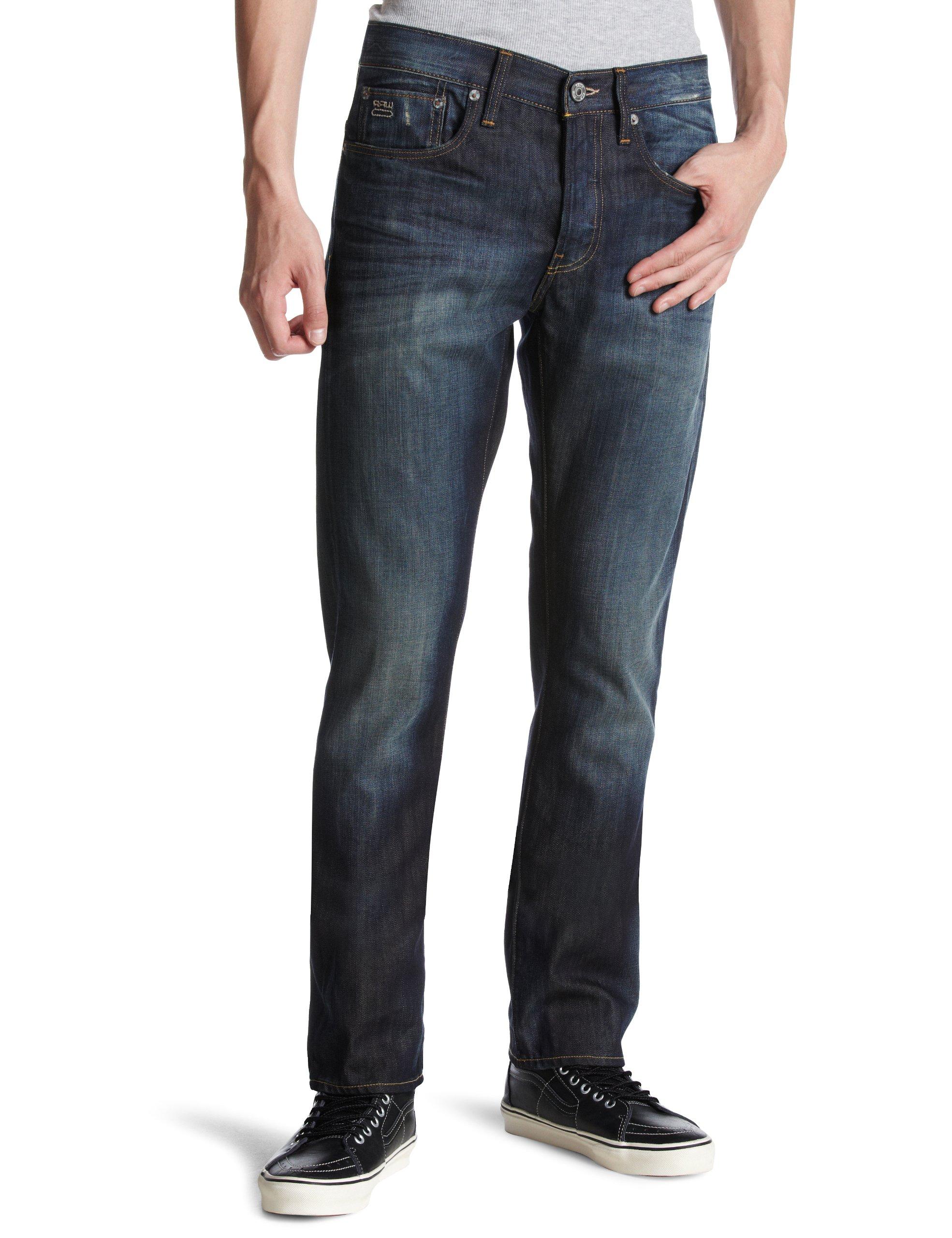 G-star Raw 3301 Slim Mens Jeans 50127 Pants (waist 33 leg 30, vintage aged 2886.1368)