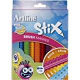 Artline Stix Brush Marker 10Pk