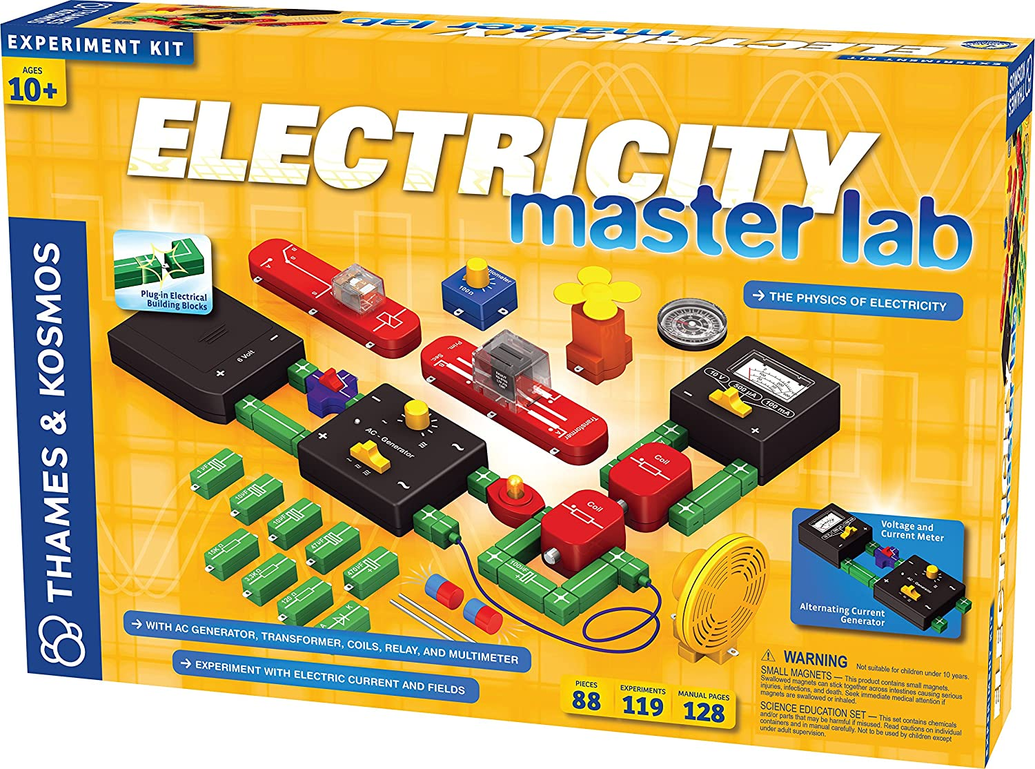 Thames And Kosmos Electricity Master Lab Toys Games Circuits Facts 6 Circuit Parts