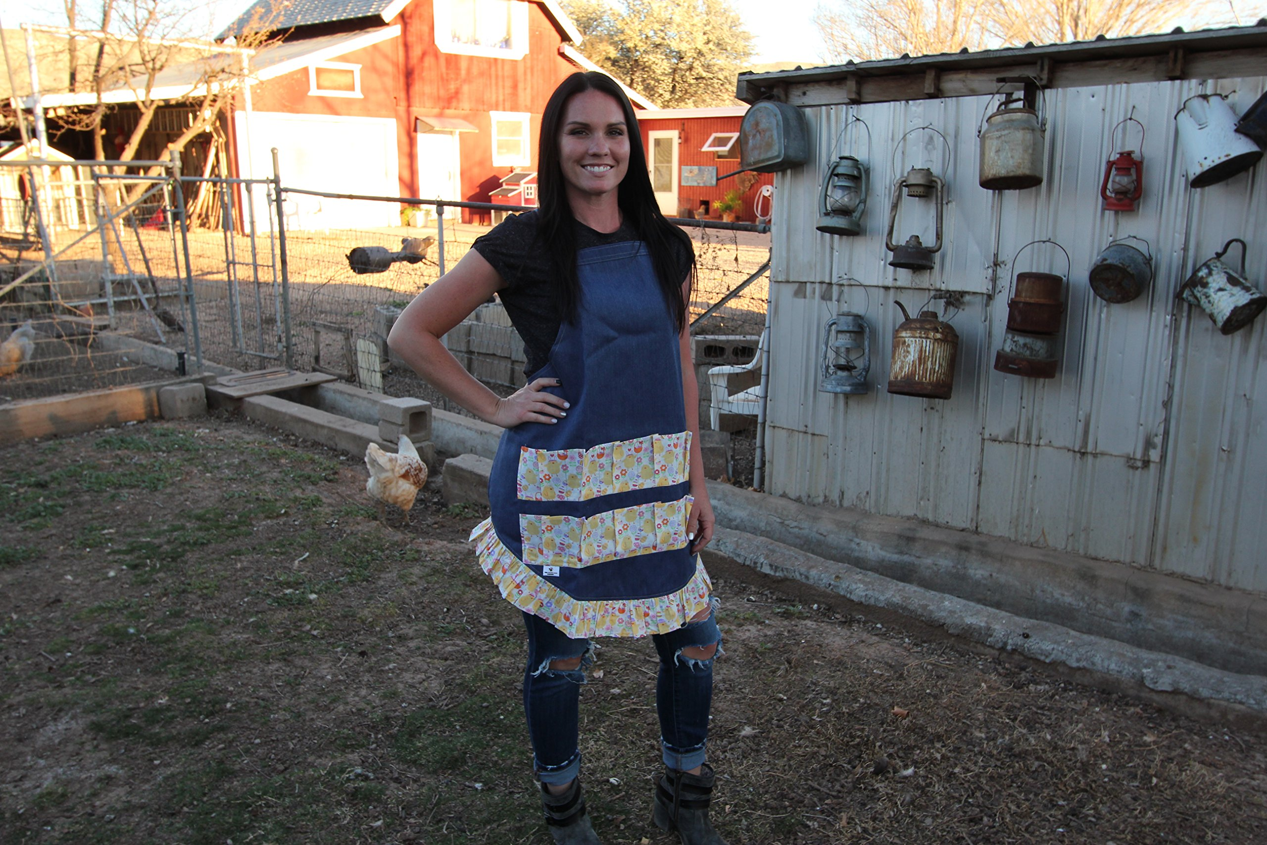The Chicken Coop Company Full Length Egg Apron (Adult, Animal Print)