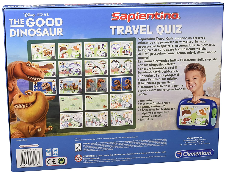 Clementoni Travel Quiz - Juego de viaje (versión italiana) El viaje de Arlo: Amazon.es: Juguetes y juegos