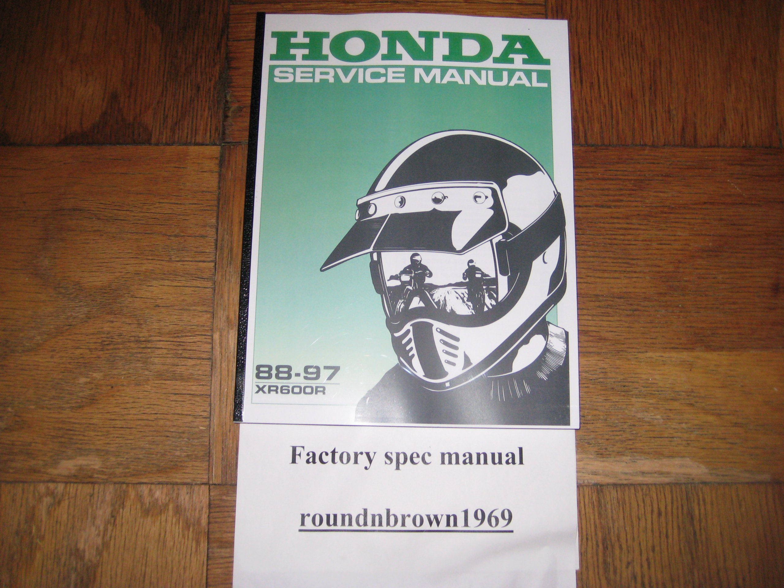 1988-1997 Honda XR600R XR600 R XR 600 R Service Manual Book Part# 61MN109:  HMC: Amazon.com: Books