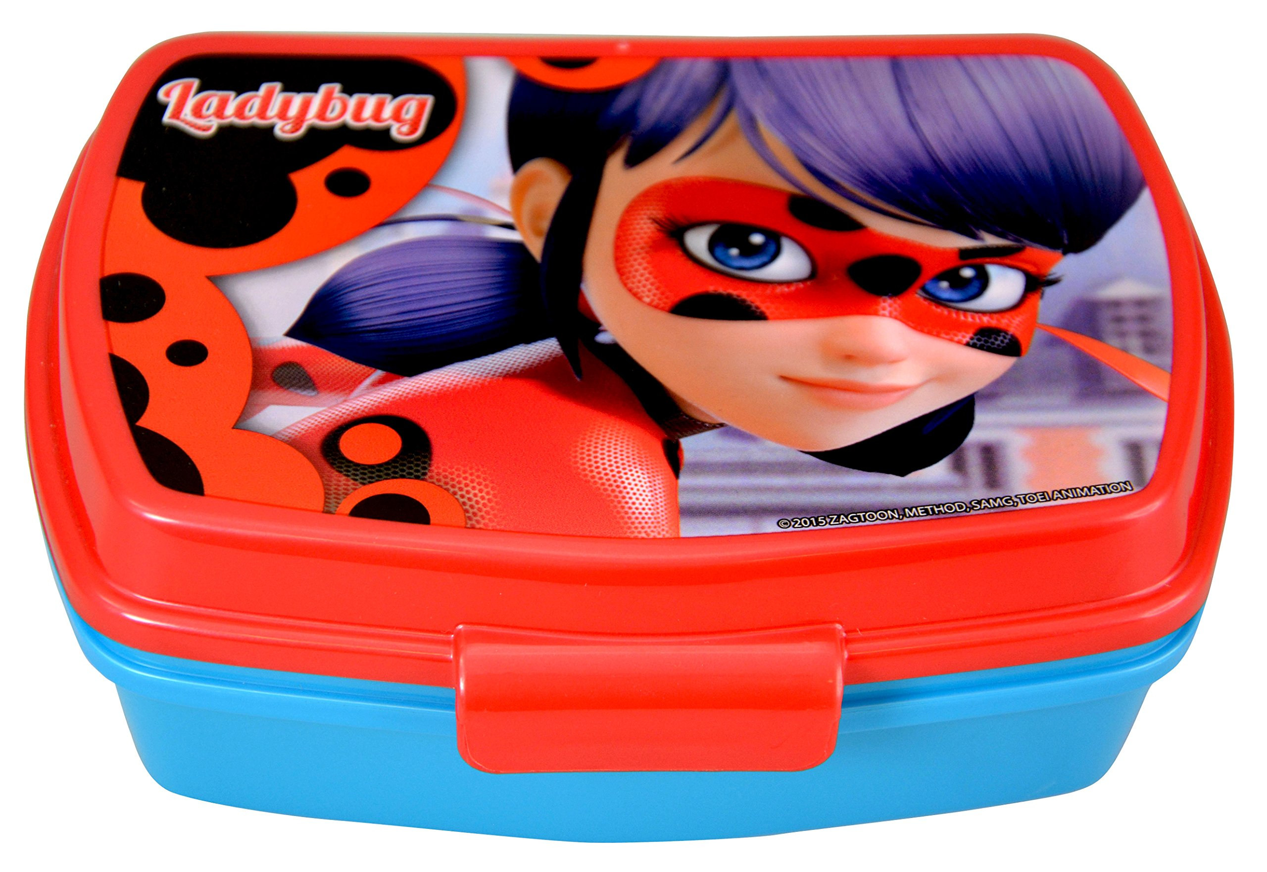 Miraculous Ladybug On The Go School Set- Drinking Cup with Straw, Food Container, Folder, Notebook (Red) by Miraculous