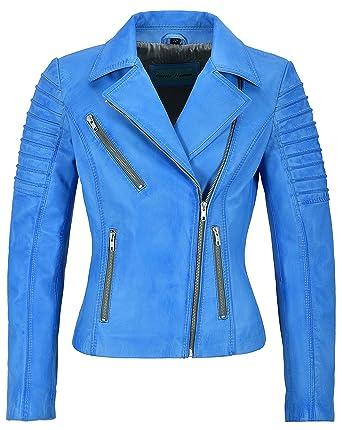 san francisco cc46e 98894 Jessica ALBA Fashion Designer Damen Lederjacke Soft Biker ...