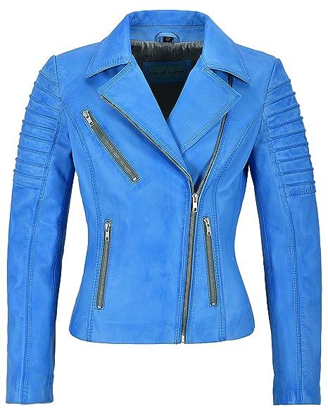 Mila Kunis Ladies Leather Jacket Stylish Fashion Designer Soft Biker Style  9334