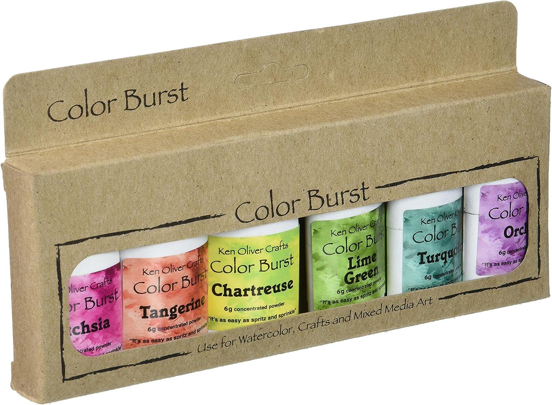 Ken Oliver Caribbean Brights Color Burst Powder (6 Pack)
