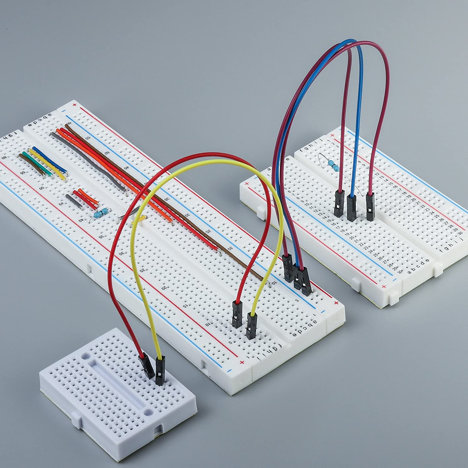 Deyue Solderless Prototype Breadboard 1x830 Tie In Breadboards Provide A Way Of Creating Circuit Without Point 2x400 Points Boards 6x170 Mini Modular