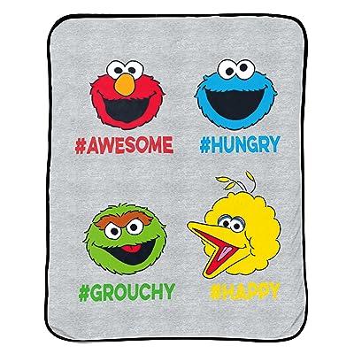 "Jay Franco Sesame Street Hip Elmo Plush 46"" x 60"" Throw: Toys & Games"