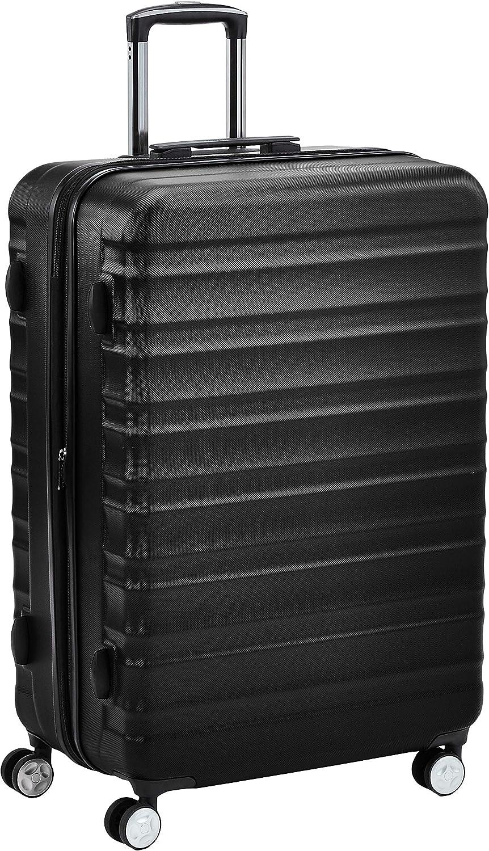 AmazonBasics - Maleta rígida giratoria prémium de 78 cm, negra