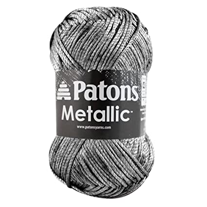 Amazon Patons Metallic Yarn 4 Medium Gauge 3 Oz Pewter