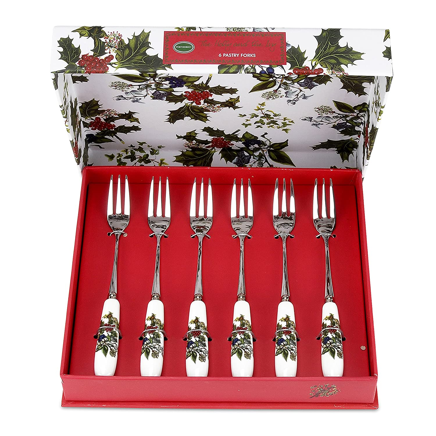 Portmeirion Holly And Ivy Set Of 6 Pastry Forks
