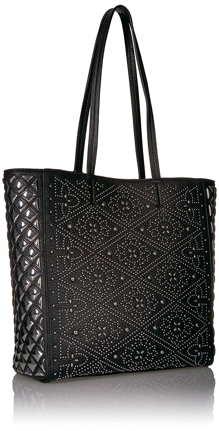 4153dc11155 Amazon.com: Calvin Klein Avery Pebble All-Over Pyramid Stud Embellished N/S Tote  Tote Bag, BLK PYRAMID, One Size: Clothing
