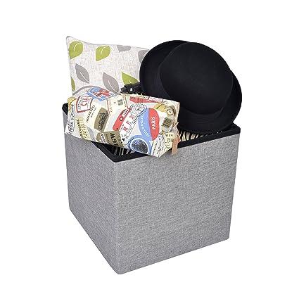 Kendan Stoughton - Banco plegable de tela con almacenamiento, puf ...