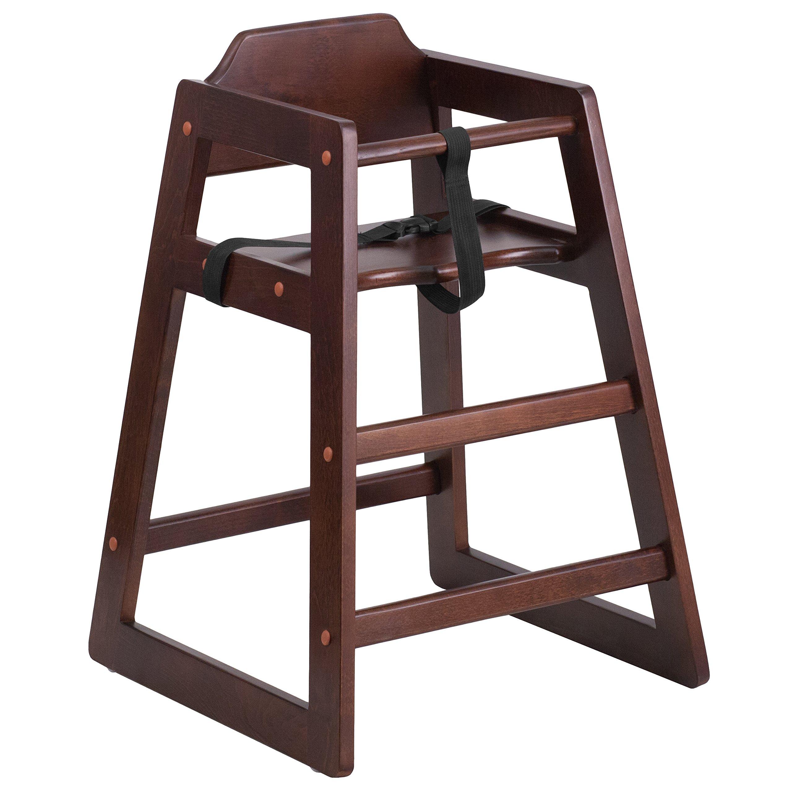 Flash Furniture HERCULES Series Stackable Walnut Baby High Chair