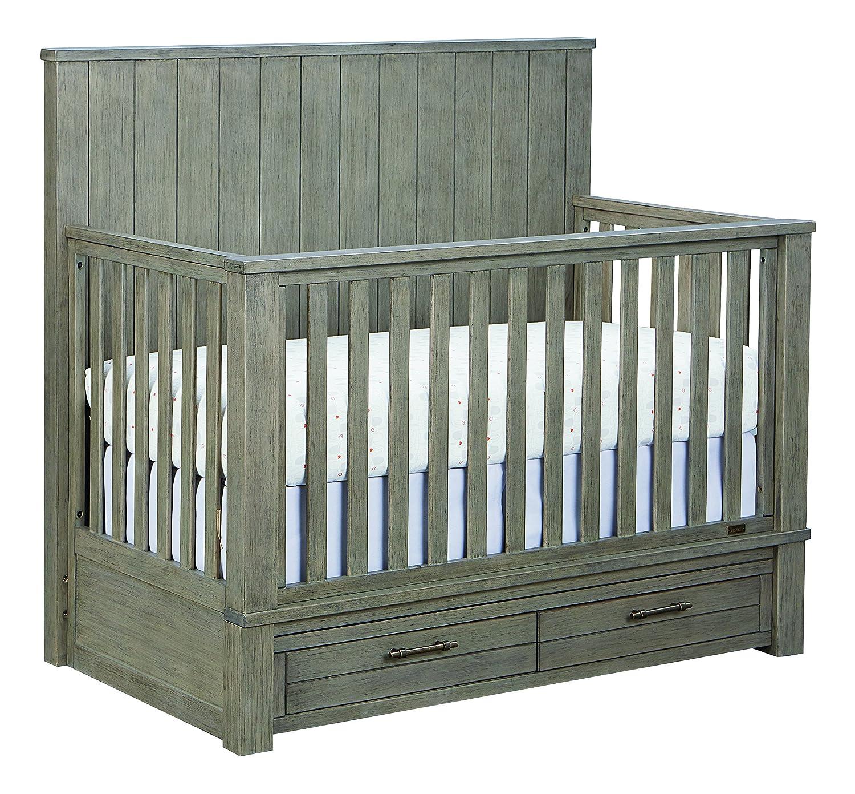 Amazon com bassett baby kids everest 4 in 1 crib smokey grey baby