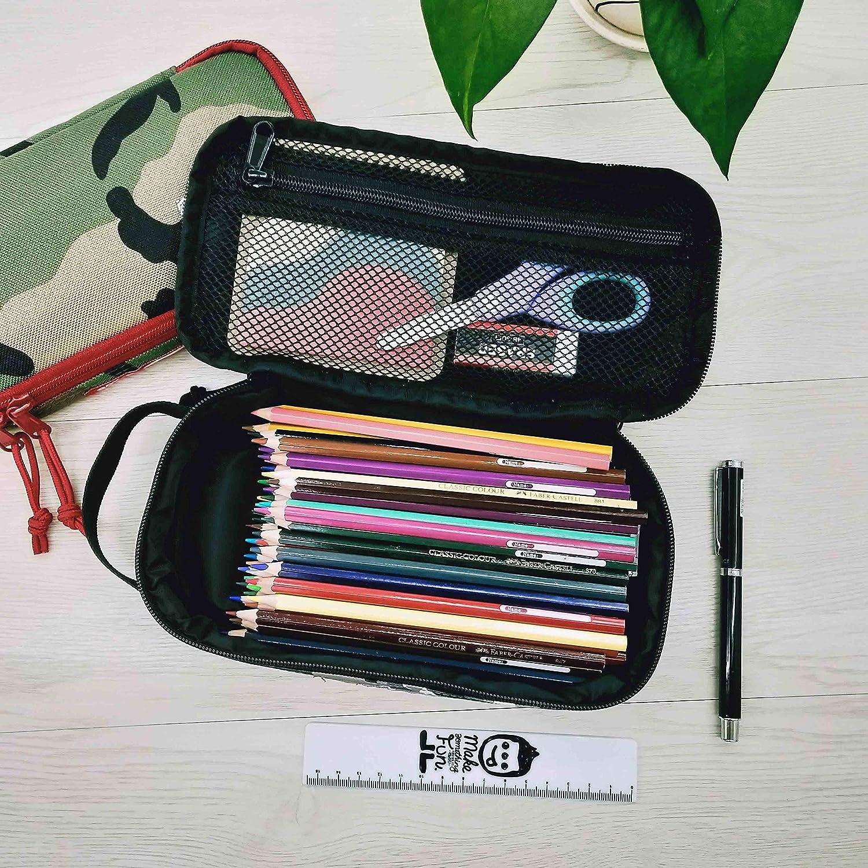 by ROUGH ENOUGH Rough Enough Multi-function Macbook Surface Accessories Tool Pouch //Big Pencil Case Holder Pouch Purple Camo