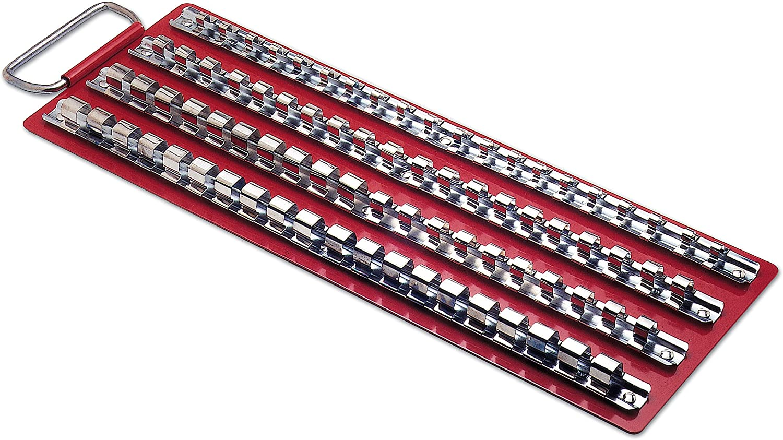 "110pc Socket Set Rail Rack Tray Clips Tool Box Storage 1//4/"" 3//8/"" and 1//2/"""