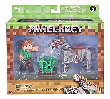 Minecraft Alex Mit Skelettpferd Actionfiguren Amazonde - Minecraft spiele mit pferden