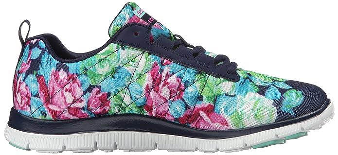WOMEN'S SHOES SKECHERS WILD FLOWERS 12448 BKMT best cheap