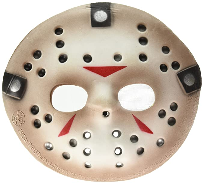 Amazon.com: Friday The 13th Jason Voorhees Deluxe Eva Hockey Mask, Gray, One Size: Clothing