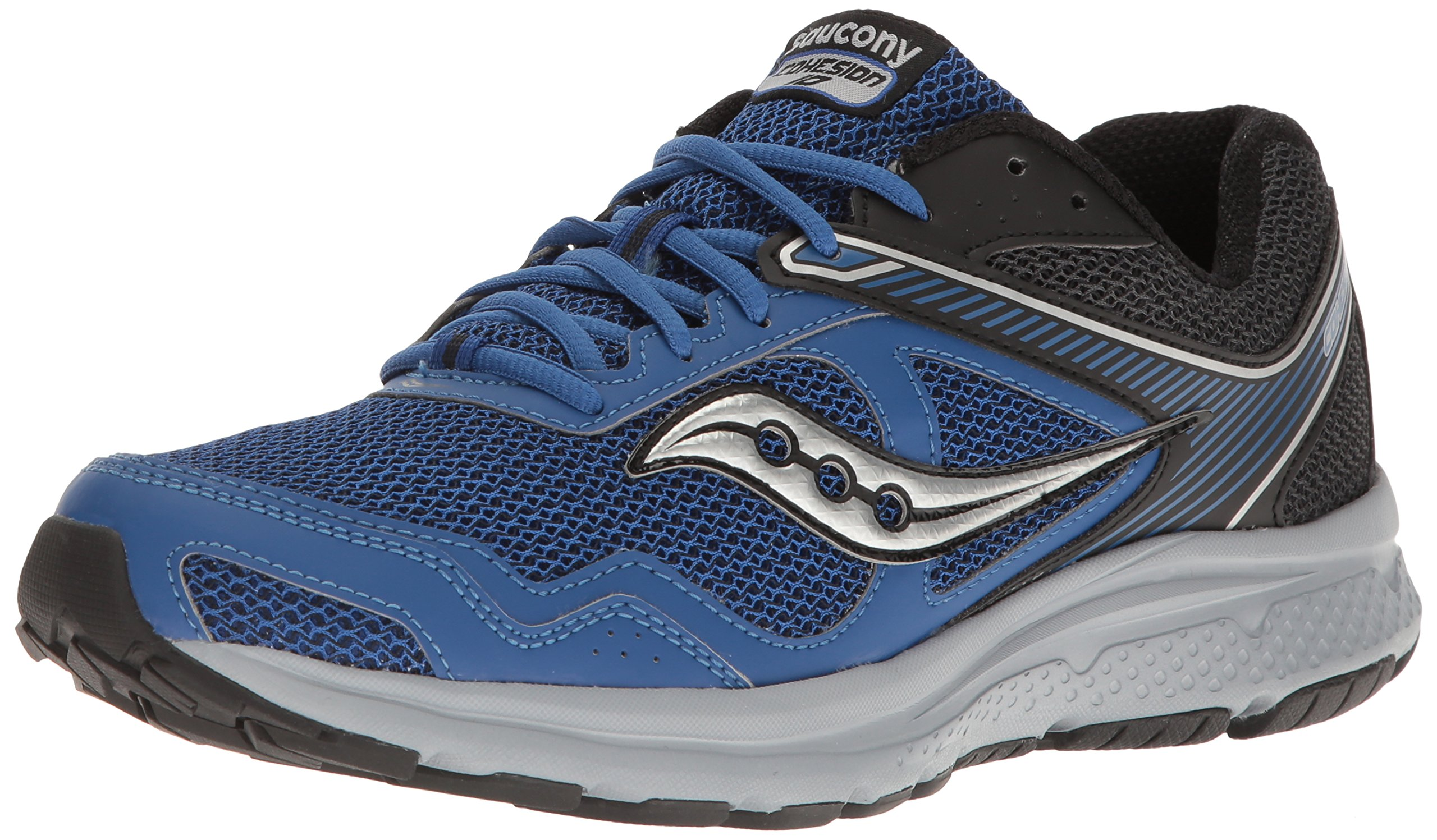 Saucony Men's Cohesion 10 Running Shoe, Royal/Black, 7 M US