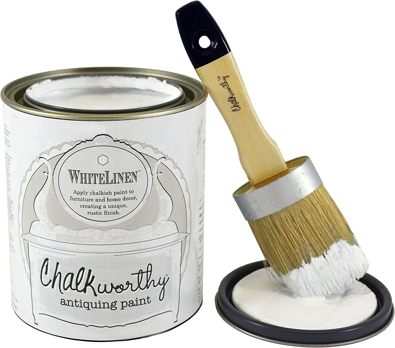 Giani Granite Chalkworthy Antiquing Paint, 16 oz, White Linen