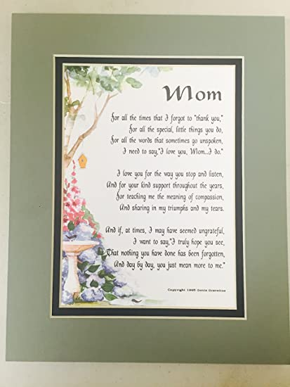 Amazon 230 Mothers Day Christmas Gift Poem 50th 60th 65th