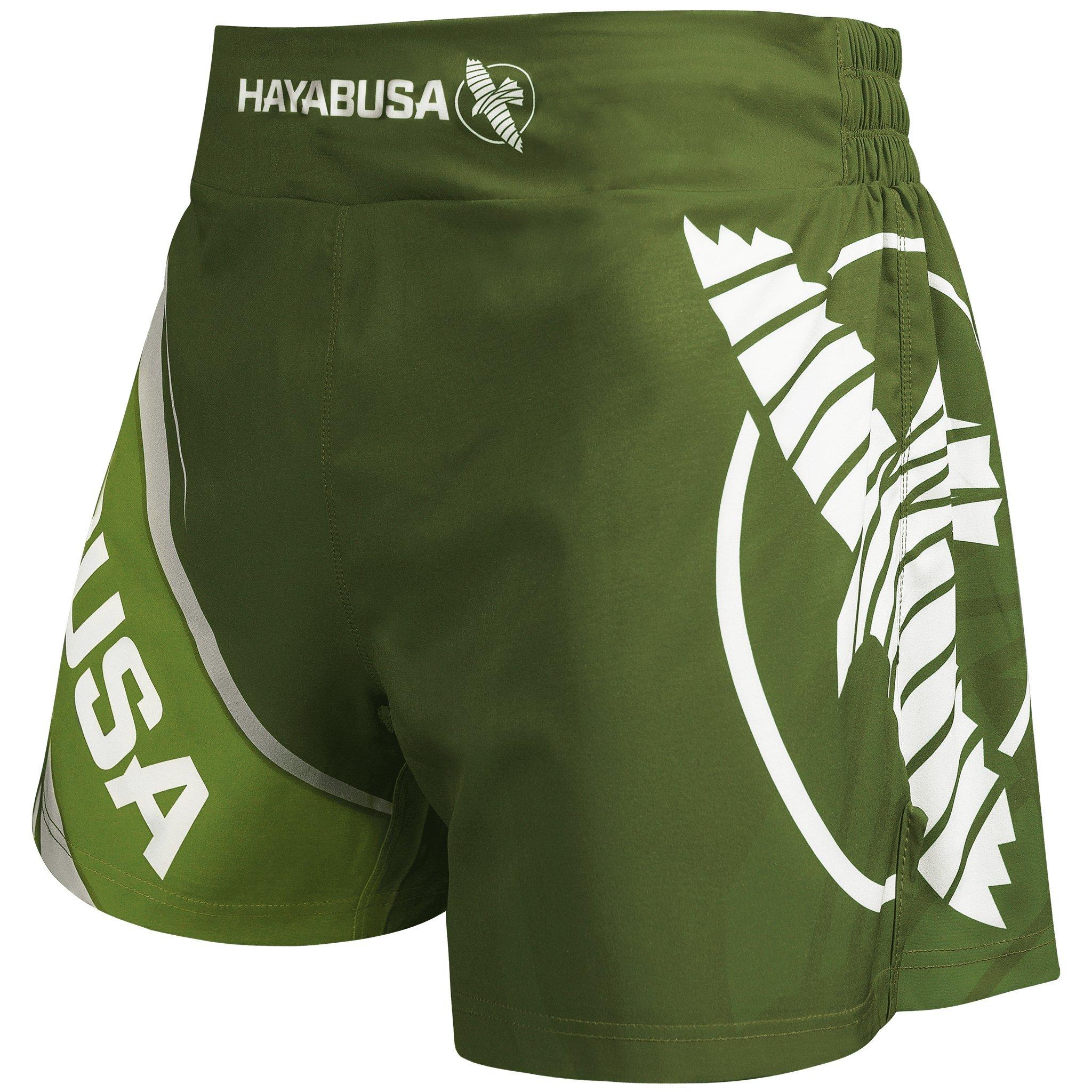 Hayabusa Kickboxing MMA Shorts (32, Green) by Hayabusa