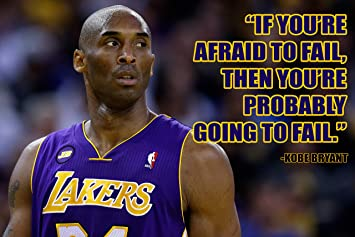 749560c8d4f Amazon.com  Kobe Bryant Poster Quote Black History Month Posters Cool Los  Angeles Lakers Quotes Basketball Sports Decor Coaching Wall Art Growth  Mindset ...