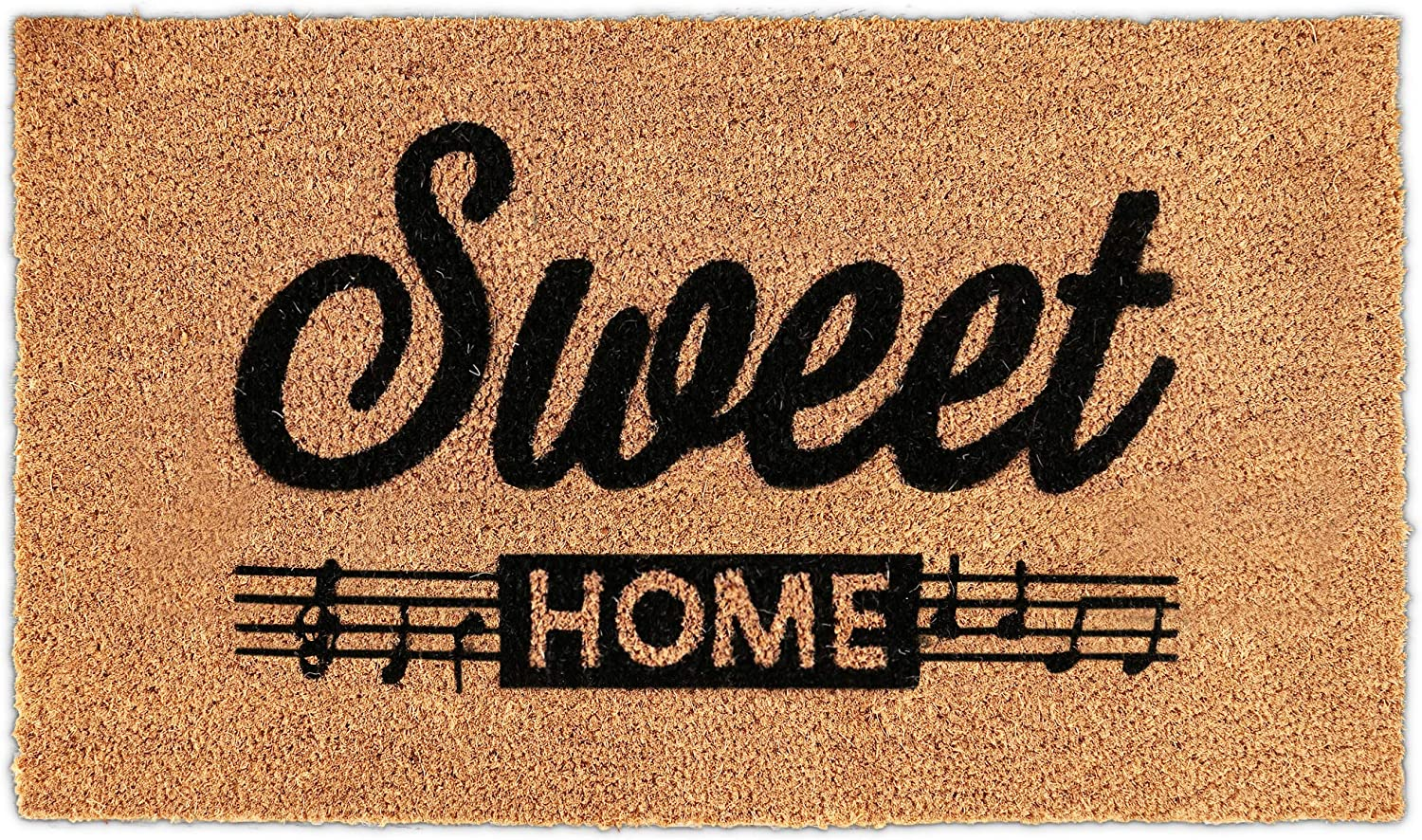 H.VERSAILTEX Doormats for Outside Entry | Natural Coco Coir Mats for Front Door | Premium Durable Outside Door Mats Heavy-Duty with Rubber Backing, Easily Captures Moisture / Dirt, 17