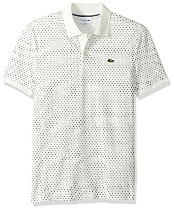 c43a5b9a Lacoste Men's Short Sleeve Slim Printed Pique Polo