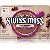 Swiss Miss Simply Cocoa Dark Chocolate Hot Cocoa Mix, 8 Count 7.68 oz