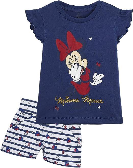Disney Minnie Mouse Pijama Niña Verano, Ropa de Niña Vacaciones Algodon 100%, Conjuntos de 2 Piezas Top y Pantalon Corto Niña, Regalos Originales para Niñas Edad 1-8 Años: Amazon.es: Ropa y accesorios