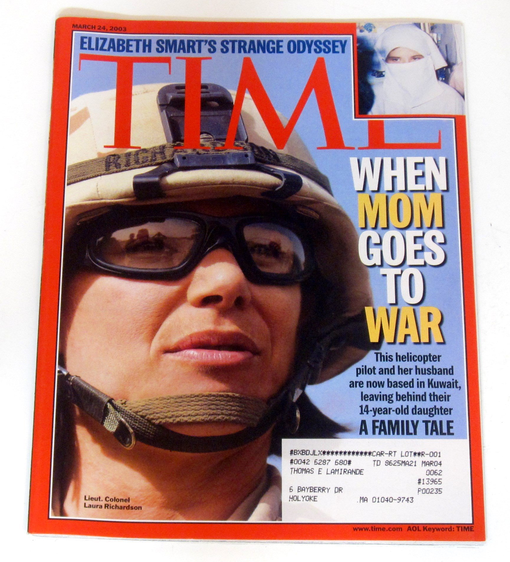 Time Magazine March 24 2003 When Mom Goes to War * Elizabeth Smart's Strange Odyssey pdf epub