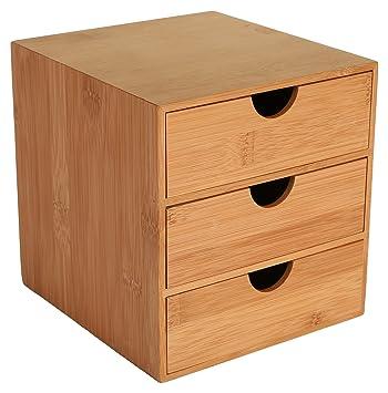 OSCO-Cassettiera a 3 cassetti, in legno di bambù: Amazon.it ...