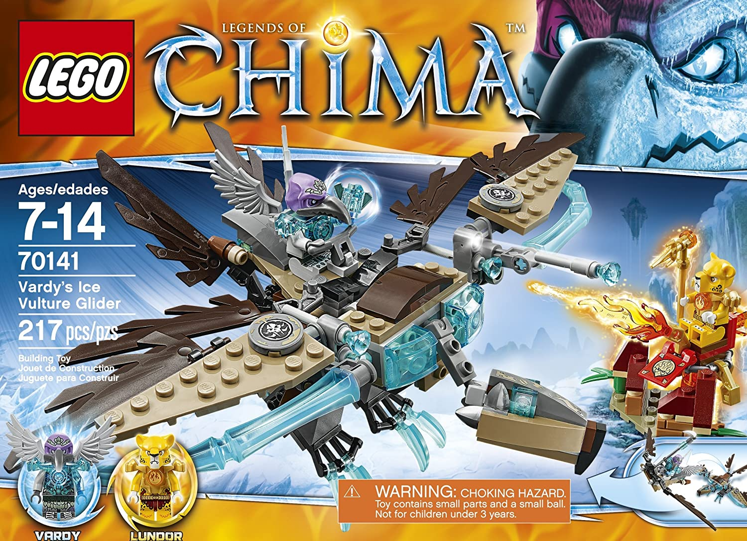 Amazon chima party supplies - Amazon Com Lego Chima 70141 Vardy S Ice Vulture Glider Building Toy Toys Games